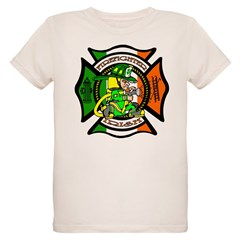 Firefighter-Irish Organic Kids T-Shirt