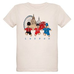 Teddy Holding Hands Organic Kids T-Shirt