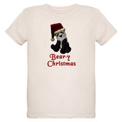 Bear-y Christmas Panda Organic Kids T-Shirt