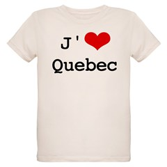J' [heart] Quebec Organic Kids T-Shirt