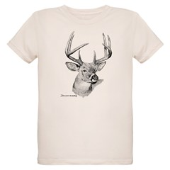 Whitetail Deer Organic Kids T-Shirt