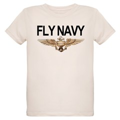 Fly Navy Wings Organic Kids T-Shirt