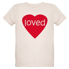 Red Loved Organic Kids T-Shirt