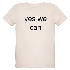 obama yes we can Organic Kids T-Shirt