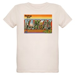 Greetings from Kansas Organic Kids T-Shirt