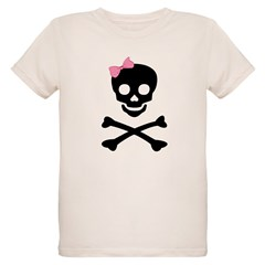 little (girl) pirate Organic Kids T-Shirt