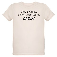 Just like Daddy Organic Kids T-Shirt