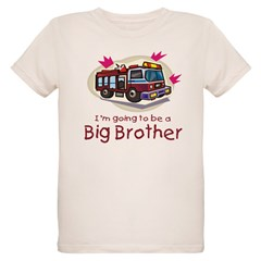 Big Brother Firetruck Organic Kids T-Shirt
