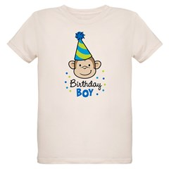 Birthday Boy - Monkey Organic Kids T-Shirt