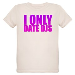 I Only Date Djs Pink Organic Kids T-Shirt