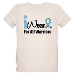 Prostate Cancer Warrior Organic Kids T-Shirt