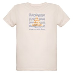 I am more than Autism Organic Kids T-Shirt