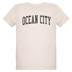 Ocean City New Jersey NJ Black Organic Kids T-Shirt