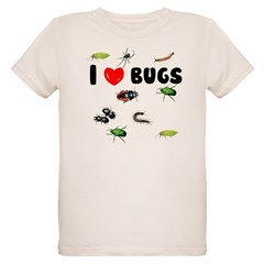 I Love Bugs () Organic Kids T-Shirt