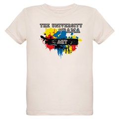 The University of Obama Art D Organic Kids T-Shirt