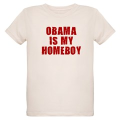OBAMA IS MY HOMEBOY Organic Kids T-Shirt