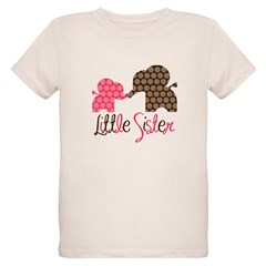Little Sister Elephant Organic Kids T-Shirt