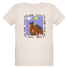 Horse Says Neigh Organic Kids T-Shirt