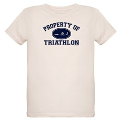 Property of Triathlon Icons Organic Kids T-Shirt