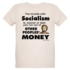 Thatcher Socialism Quote Organic Kids T-Shirt