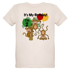 Monkey 2nd Birthday Organic Kids T-Shirt