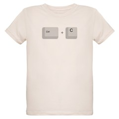 Ctrl+C Copy Organic Kids T-Shirt