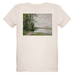 The Riverside Road from Veneux to Thomery by Alfre Organic Kids T-Shirt