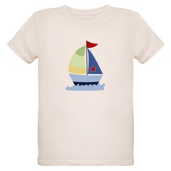 Nautical Sailboat Organic Kids T-Shirt