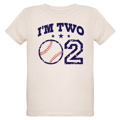 Two Year Old Baseball Organic Kids T-Shirt