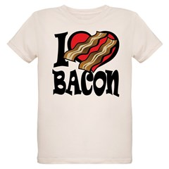 I Love Bacon Organic Kids T-Shirt