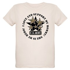 Kids Army Love Support Mommy Hero Infant Creeper Organic Kids T-Shirt