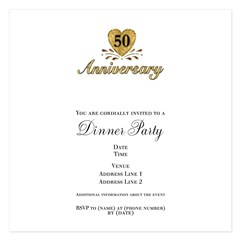 50th Anniversary 5.25 x 5.25 Flat Cards