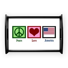 Peace Love America Small Serving Tray