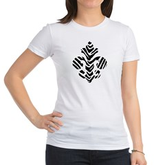 Fleur de lis Animals 1 Jr. Jersey T-Shirt