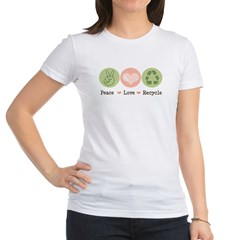 Recycling Peace Love Recycle Jr. Jersey T-Shirt