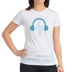 Blue Headphones Maternity Tee (Dark) Jr. Jersey T-Shirt