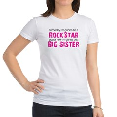 ADULT SIZES rock star big sister Jr. Jersey T-Shirt