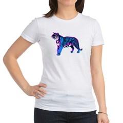 Corey Tiger 80s Retro Vintage Blue Tiger T-Shirt Jr. Jersey T-Shirt