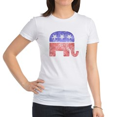 Faded Republican Elephant Jr. Jersey T-Shirt