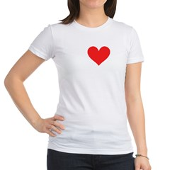 I Heart Volleyball: Jr. Jersey T-Shirt