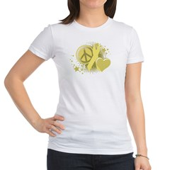 Spina Bifida Peace Love Cure Jr. Jersey T-Shirt