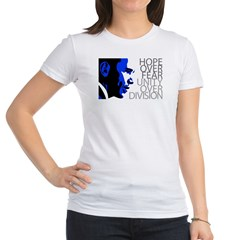 Obama - Hope Over Fear - Blue Jr. Jersey T-Shirt