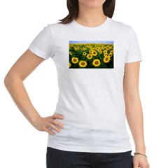 Sunflowers in field Jr. Jersey T-Shirt