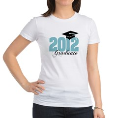 2012 graduate color aqua Jr. Jersey T-Shirt