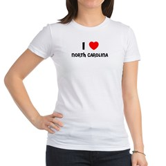 I LOVE NORTH CAROLINA Jr. Jersey T-Shirt