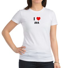 I LOVE AVA Jr. Jersey T-Shirt