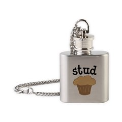 Stud Muffin Funny Valentines Day Gift Flask Necklace