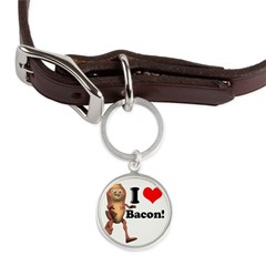 bacon copy.jpg Large Round Pet Tag