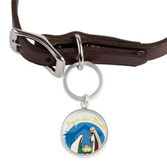 nativity scene cp.png Large Round Pet Tag