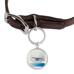 Aircraft Float Plane Large Round Pet Tag